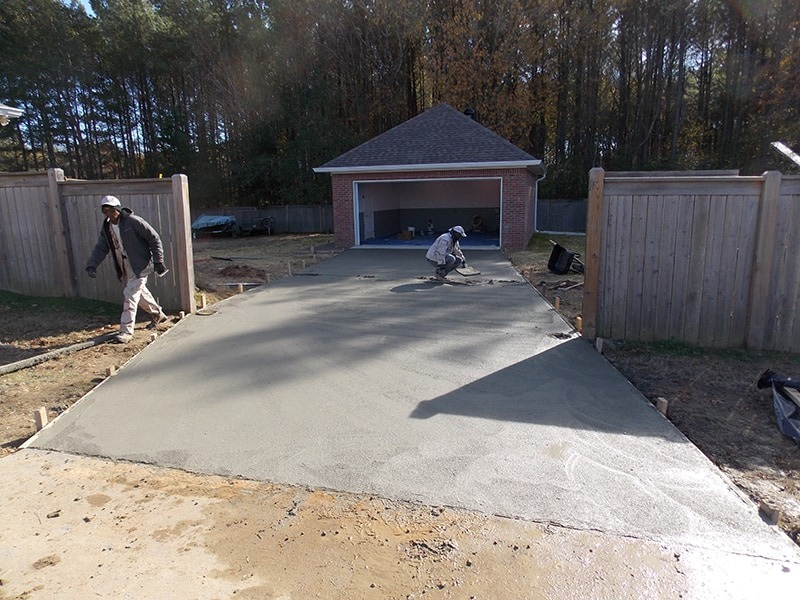 Slab and Driveway